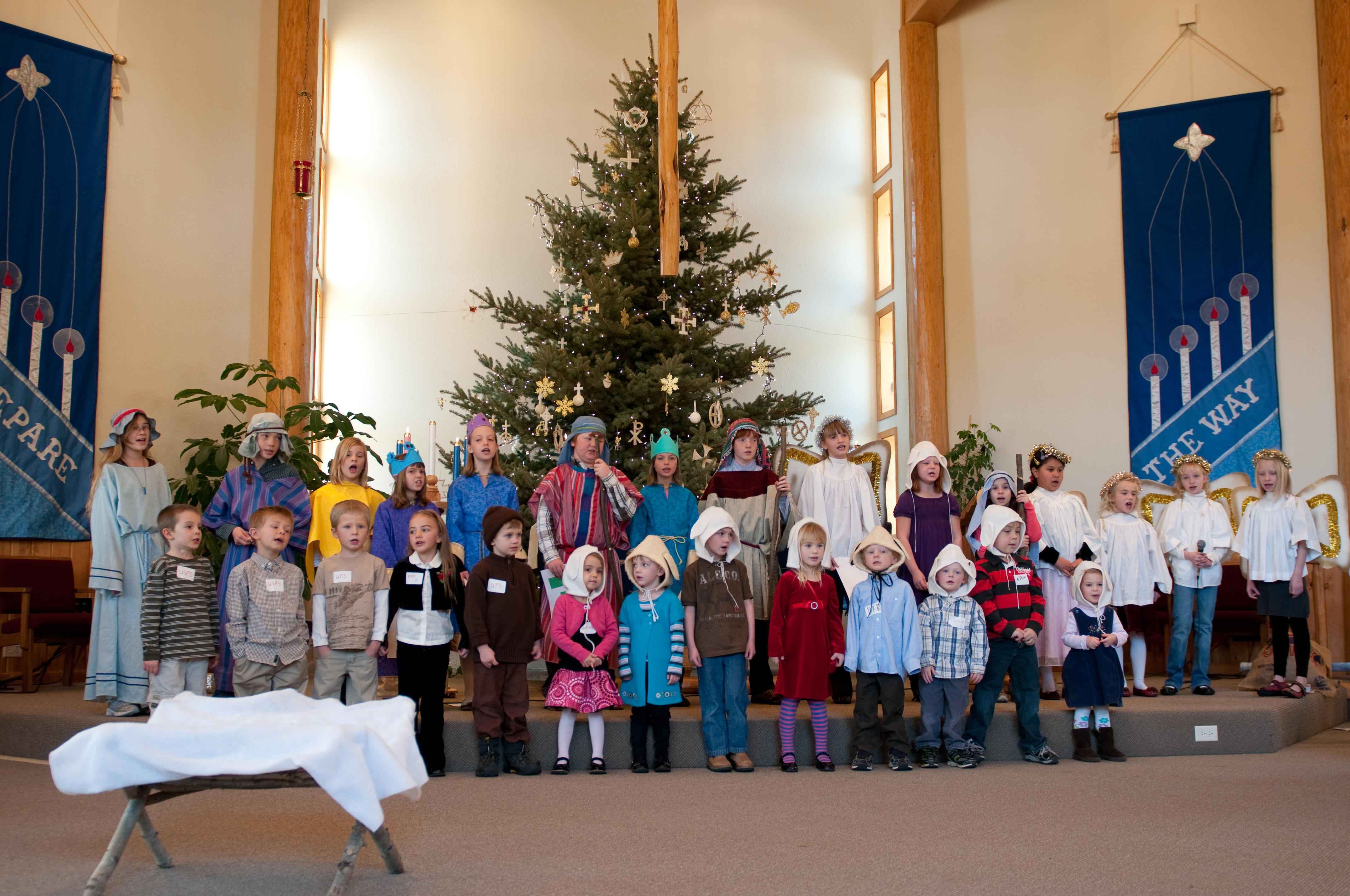 this years sunday school christmas program was no exception except that if anything it went much better than the director led us to believe it would go